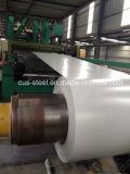 Colorear la bobina de acero galvanizada revestida de la INMERSIÓN caliente para las hojas del material para techos
