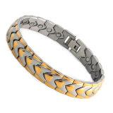 Bracelet aimant en acier inoxydable Boday Balance avec pierre énergétique 4in1