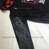 PUの男の子の衣服が付いている袖、方法子供の着ること