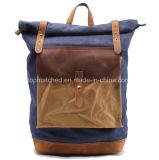 Новым Backpack кожи холстины прибытия навощенный сбор винограда Hiking Backpack