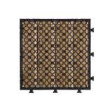 Le bon un paquet de plancher en stratifié imperméable à l'eau portatif extérieur couvre de tuiles le revêtement pour le patio Hotsale au Ghana