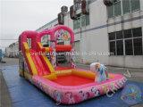 حصان قزم صغيرة قابل للنفخ ماء منزلق مع برمة من الصين