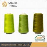 꿰매는 스레드를 위한 도매 Oeko-Tex 100% 염색된 폴리에스테 털실