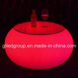 나이트 클럽 가구에 사용되는 현대 LED에 의하여 조명되는 가구 둥근 커피용 탁자