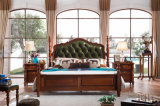 Jogo de quarto americano do estilo de país da mobília nova da madeira contínua do projeto (AD811)