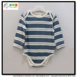 長い袖の赤ん坊の摩耗の縞の印刷の幼児のBodysuit