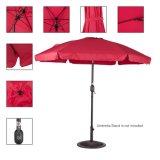 Les 7.5 pieds extérieurs de plage en aluminium drapent le parapluie avec la manivelle