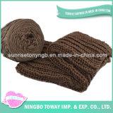 Warm Scarf de l'hiver de coton de polyester de Madame Acrylic Knitted