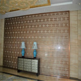 Verdeler van de Muur van het Scherm van de Verdeling van het Roestvrij staal van het Meubilair van het Huis van het Ontwerp van de luxe de Binnenlandse Decoratieve