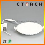 4W Ce/RoHS 매우 얇은 라운드 LED 위원회 빛