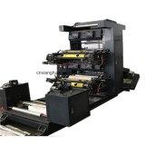 Machine d'impression flexographique non tissée de papier de Fabic de plastique de deux couleurs