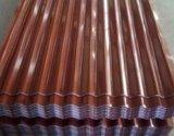 Folhas do telhado do metal/placa telhadura de aço ondulada de revestimento de Aluzinc