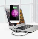 Flexibler Fastfood- USB-Kabel-Aufladeeinheits-Metalschlauch-Standplatz-Halter-Stahlkabel für iPhone Android