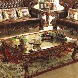 يعيش غرفة ثبت أثاث لازم مع خشبيّة جلد أريكة (529)