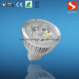 3W GU10 110-240V del LED luz del punto con el CE aprobado RoHS