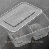 PP освобождают коробку устранимой двойной еды контейнеров пластичную
