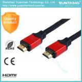 Varón plano de 1.3V /1.4V al cable masculino del soporte HDMI del cable 3D de HDMI