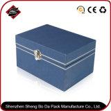 Het aangepaste Verpakkende Vakje van het Document van de Stijl Blauwe voor Juwelen