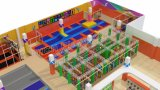 Trampoline Indoor Indoor Playground Parc d'attractions Mini Tramopoline 7115A