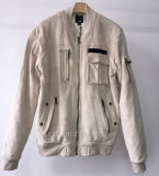 Замша Faux людей конструкции способа с курткой застежки -молнии