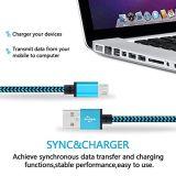 Cable micro trenzado de nylon del cargador de los datos del USB 5pin para Samsung
