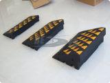 Rampe r3fléchissant en caoutchouc noir et jaune de bord de véhicule