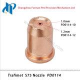 Gicleur Pd0114 de nécessaire de consommables de torche de découpage de plasma de Trafimet S75