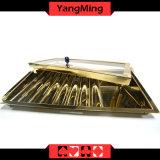 ساطع ذهبيّة معدن [بوكر شب] صينيّة كازينو طاولة صينيّة رقاقة حالة [يم-كت13]