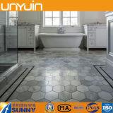 Suelo modificado para requisitos particulares alta calidad del azulejo del PVC del hexágono