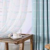 ヨーロッパの普及した現代様式の停電のジャカード窓カーテン(02F0027)