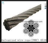 Cuerda de alambre galvanizada clase Iwrc-6X19 Eips (base de acero)