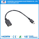 Shenzhen Hot Sale Factory Price 20cm Black OTG Cable