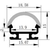 perfil de alumínio do diodo emissor de luz da montagem de superfície de 18.58*15mm para a luz de tira