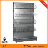 Einzelner seitlicher Supermarkt-Regal-/Supermarket-Ausstellungsstand