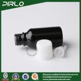 bottiglie di vetro nere dell'olio essenziale 15ml con il coperchio a vite bianco
