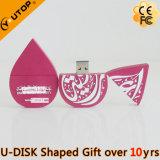 Mecanismo impulsor de encargo del flash del USB de la insignia del PVC del presente del alto rendimiento (YT-6660)