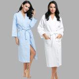 De super Witte Goedkope Badjas van de Wafel voor Vrouwen
