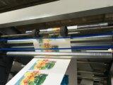 Hoge snelheid 6 de Machine van de Druk van Flexo van Kleuren voor PE pp het Broodje van de Film van pvc (nx-B)