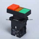 Quadrat geleuchteter Typ Drucktastenschalter mit Rot/Grün
