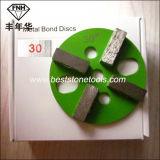 Bloco de lustro de moedura do assoalho concreto da ligação do metal da barra do diamante 4