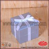 Personnalisé Argent Foiled Logo Flip Top Box Luxe Anneau