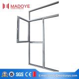 Varias especificaciones Marco de aluminio Ventana abierta plana