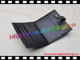 Suporte de cartão do crédito do couro genuíno com fechamento instantâneo