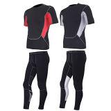Ropa de deportes de los pantalones de Wicking de la humedad del hombre corriente de la aptitud de la gimnasia atlética