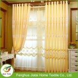 Cortinas amarelas longas Revestimento de janelas baratas de alta qualidade