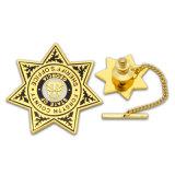 Emblema duro personalizado da forma da estrela do esmalte do metal