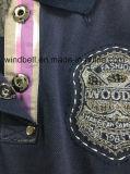 Обыкновенная толком рубашка пола хлопка для серебра продевает нитку вышивку
