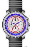 多機能の316のステンレス鋼の大きいサイズのシリコーンのスポーツの人の腕時計