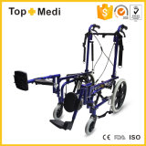 Sedia a rotelle di alluminio adagiantesi pieghevole 2017 di paralisi cerebrale delle attrezzature mediche per il Disable
