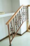Haohan modificó la barandilla de acero galvanizada decorativa residencial europea 2 de la escalera para requisitos particulares